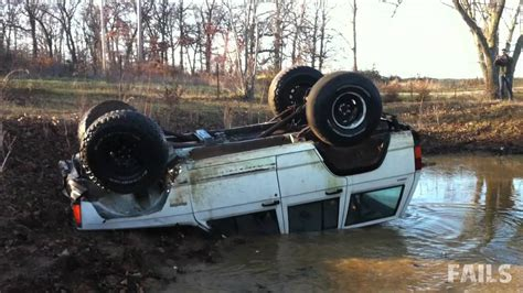 Jeep Fails High Flying Jeep Jump Fail Truck Flips