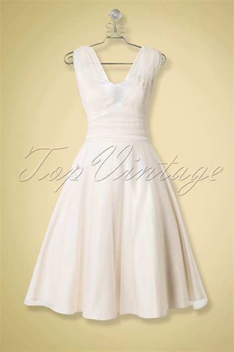 swing dress wedding 50s sophie occasion swing bridal dress in ivory