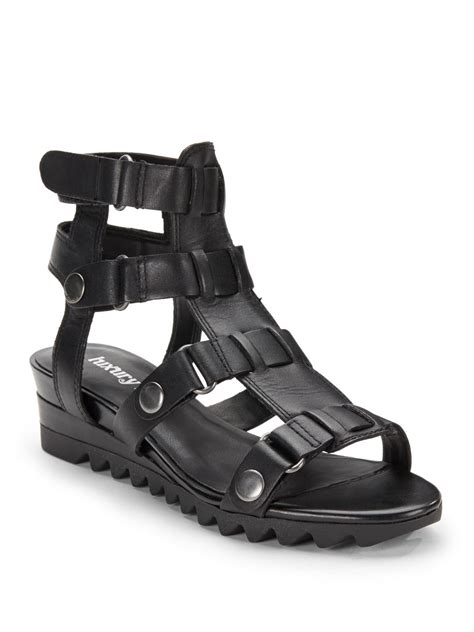 rebel sandals luxury rebel edith gladiator demiwedge sandals in black lyst
