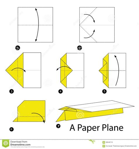Steps To Make A Paper Airplane - origami how to make a cool paper plane origami