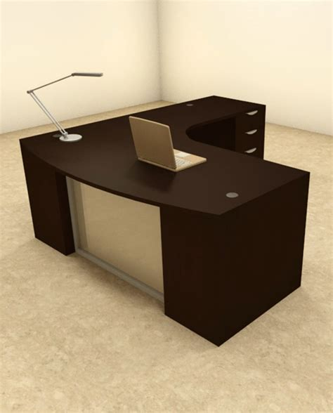 pc  shaped modern contemporary executive office desk set    ebay
