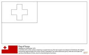 flag of tonga coloring page free printable coloring pages