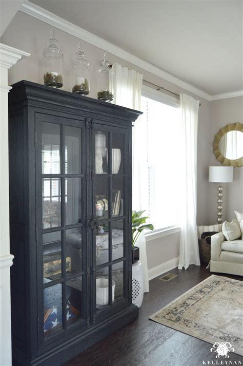 restoration hardware liquor cabinet formal living room tour
