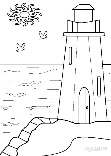 lighthouse template craft lighthouse coloring pages to print picture lighthouse