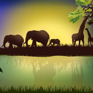 Landscape Pictures With Animals Landscape With Animals Vector Freevectors Net