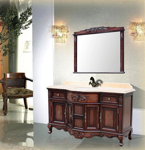 montage antique style bathroom vanity single sink 60 quot