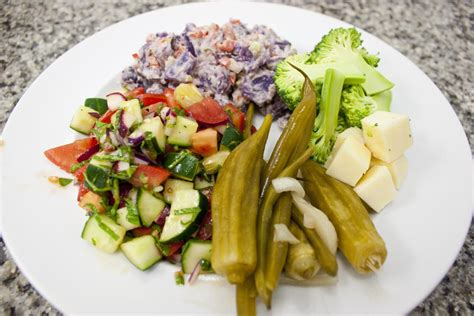 Garden Vegetable Salad Garden Vegetable Salad Recipe Think Eat Be Healthy