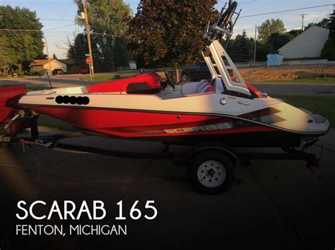 scarab jet boats top speed scarab 165 for sale in fenton mi for 26 850 pop yachts