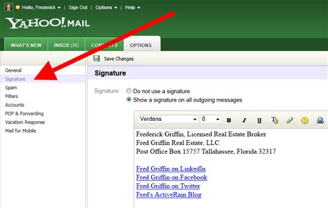 email yahoo signature email signature what should be included in an email