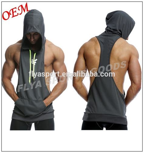 wholesale custom sleeveless design your own hoodie warm up wholesale custom mens plain gym stringer sleeveless hoodie