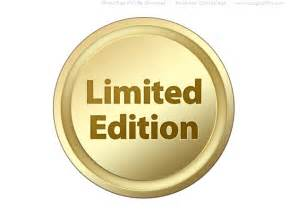 Special Edition Psd Black And Gold Limited Edition Seals And Buttons