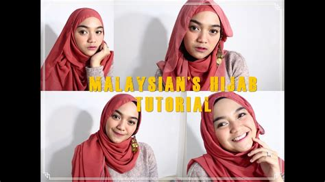 tutorial hijab ala malaysia buat lebaran ditutorialin