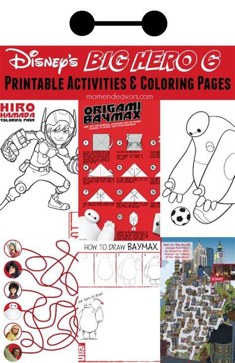 printable heroes guide 20 free disney s big hero 6 party printables