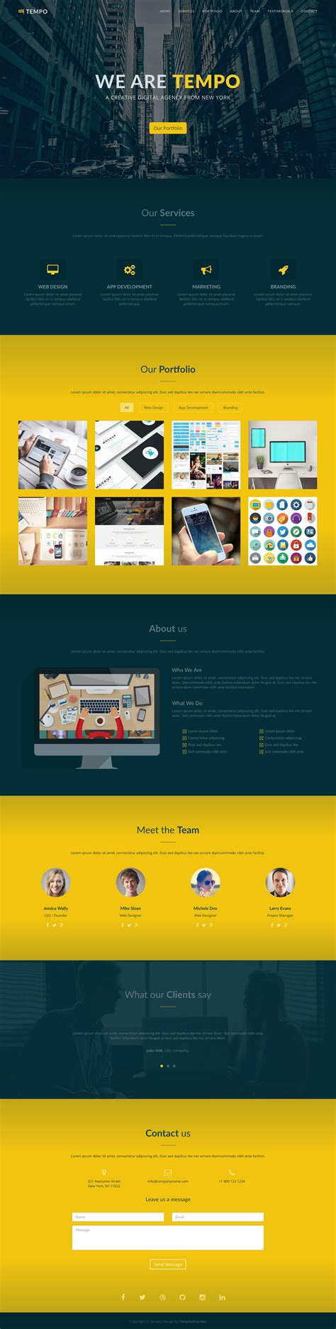 one page templates free tempo one page template review