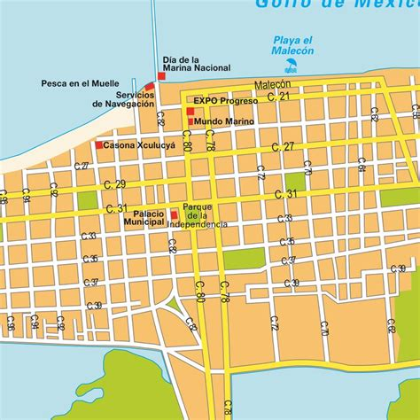 progreso mexico map map progreso mexico maps and directions at map