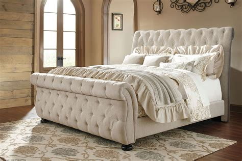 ashley furniture tufted bed willenburg linen tufted bed by ashley furniture beds