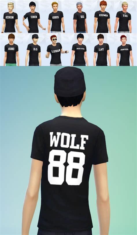 Glitter Kpop Exo 88 exo wolf 88 t shirt at darkiie sims4 187 sims 4 updates