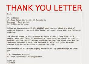 business thank you letter sles business letters