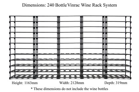 Wine Rack Opening Size by 240 Bottle Wine Rack By Vinrac Modular And Affordable