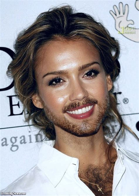 Participate In Contest Jessica Alba Growing A Beard Pictures Freaking News