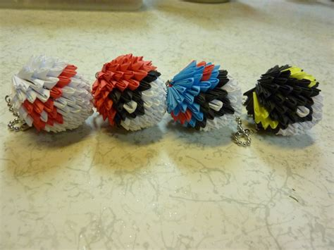 3d Origami Pokeball - 3d origami pokeballs by houkiboshi3133 on deviantart