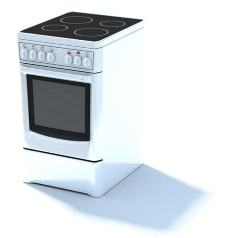 kitchen appliance electric stove 3d model cgtrader com white electric oven 3d model max cgtrader com