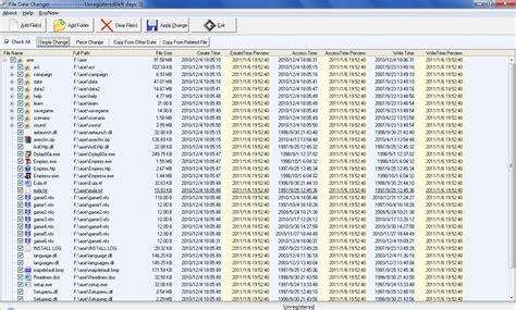 Calendar File Extension File Date Change V2 9 5 Shareware File Date