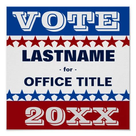 election posters templates custom caign template poster zazzle