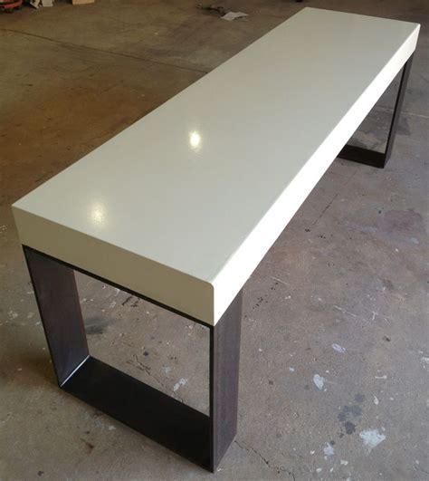 custom polished concrete desk crump kwash products