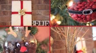 Home Made Decorations For Christmas 4 easy christmas diys amp gift ideas laurdiy youtube