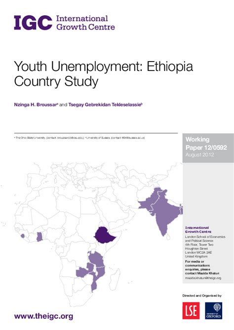 youth unemployment ethiopia country study tsegay