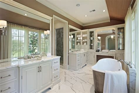 How To Tile A Bathtub Wall 36 Master Bathrooms With Double Sink Vanities Pictures
