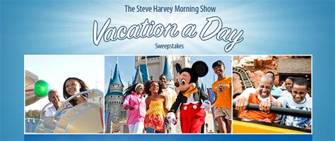 Steve Harvey Show Gift Giveaway - enter to win the steve harvey morning show vacation a day sweepstakes
