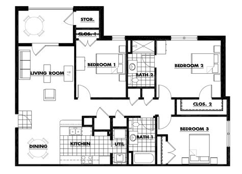 three bedroom apartment planning idea home design ideas design room layout app home designs and floor plans living