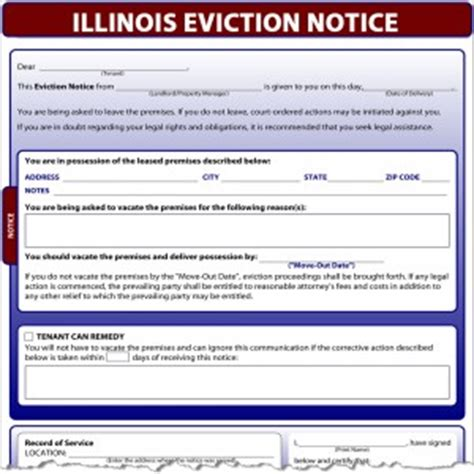 Illinois Eviction Notice Eviction Notice Illinois Template