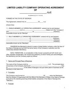 llc agreement template free free llc operating agreement forms word pdf