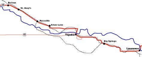 map of oregon trail through kansas u s route 40 oregon trail