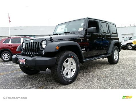 black jeep 2016 2016 black jeep wrangler unlimited sport 4x4 108374837