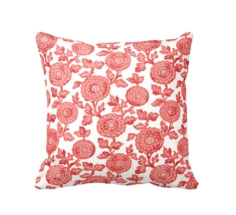coral couch pillows decorative pillows coral throw pillows floral pillows coral