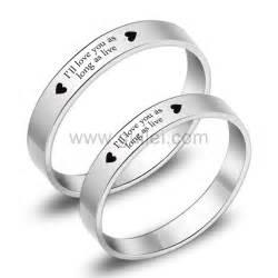 Promise Rings For Girlfriend engraved titanium matching promise eternity rings set for