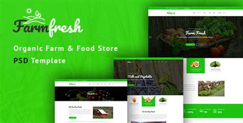 themeforest organic food themeforest farm fresh organic food and eco farm psd