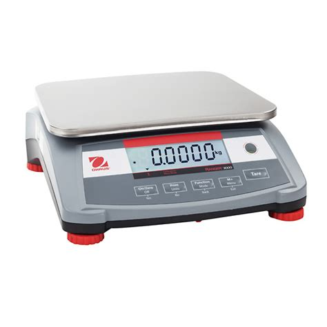 ohaus bench scale ohaus ranger 3000 compact bench scale 3 kg x 0 1 g from
