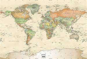 World Map Wall by Vintage Map Wallpapers Wallpaper Cave