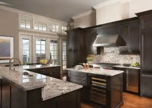 Kitchen Colors Dark Cabinets by 37 High End Dark Wood Kitchens Photos Designing Idea