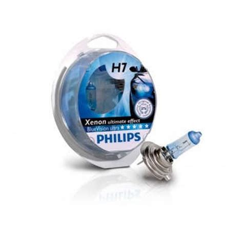 Lu Philips Blue Vision philips h7 12v 55w blue vision ultra set 2 becuri auto h7