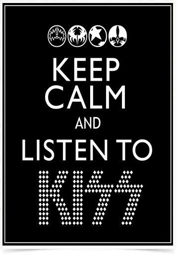 Poster Art Digital Keep Calm Kiss impresso com tecnologia