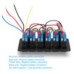 6 marine boat led rocker switch panel circuit breaker usb charger voltmeter ebay