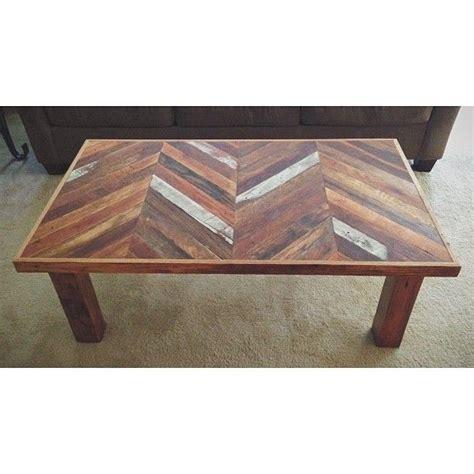 custom made reclaimed chevron coffee table by callum east