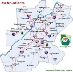 Atlanta On A Map by Map Of Atlanta Atlanta Maps Mapsof Net