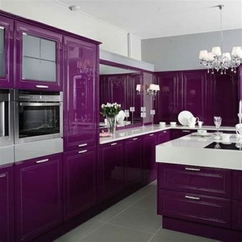 purple cabinets kitchen purple kitchen dream kitchens pinterest cook in the